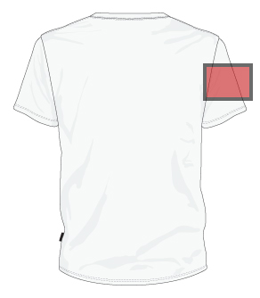 left sleeve printing