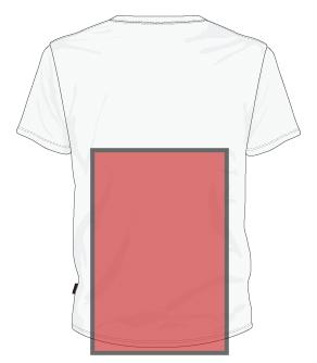 back bottom of shirt printing